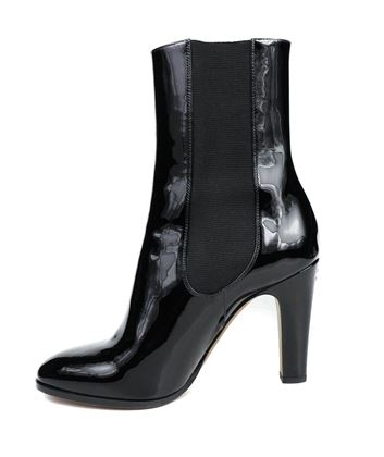 chanel-new-cc-boots-black-patent-leather-ankle-booties-us-9-40-pre-owned-used