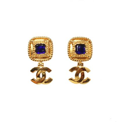 chanel-square-stone-cc-mark-swing-earrings-blue