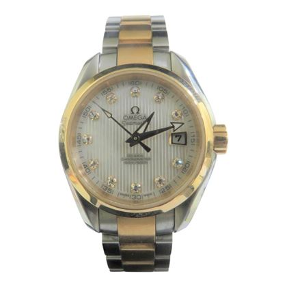 Picture of Omega Seamaster Gold & Stainless Steel Mens Watch with Diamond Hour Markers