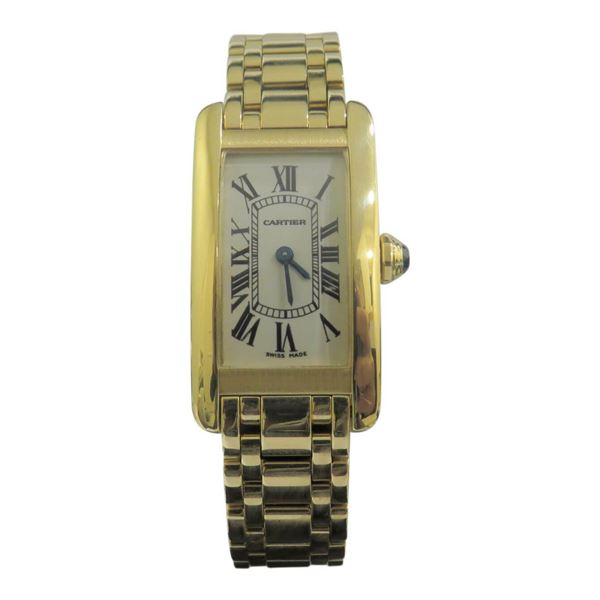 Picture of Cartier Tank Americaine Chronograph 18k Yellow Gold Mens Watch