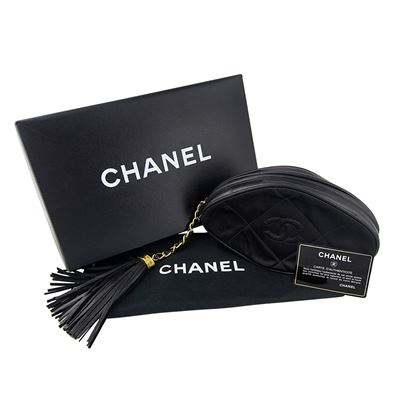 vintage-chanel-black-quilted-nylon-fringe-mini-pouch-clutch-2