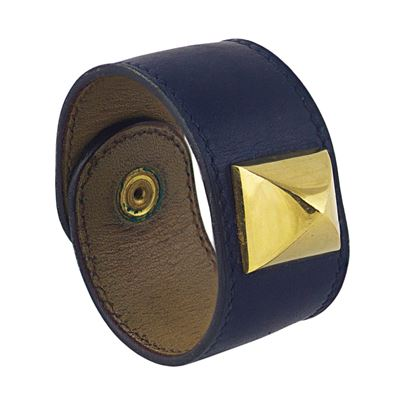 vintage-hermes-navy-box-calf-medor-bracelet-with-gold-plated-stud