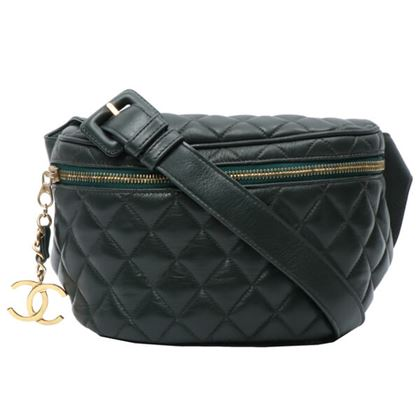 chanel-cc-mark-charm-waist-pouch-dark-green