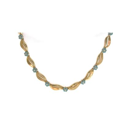 vintage-1960s-trifari-turquoise-flower-gold-plated-choker-necklace-2