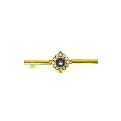 antique-victorian-amethyst-seed-pearl-9ct-gold-gemstone-brooch