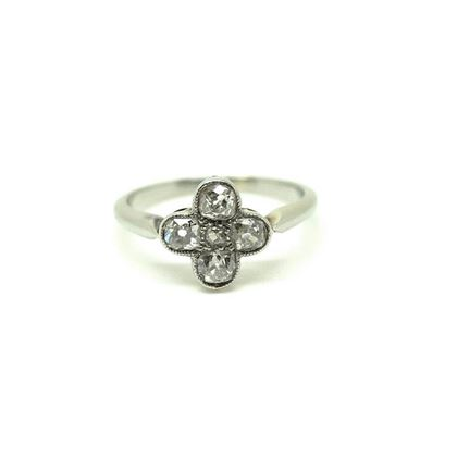 antique-edwardian-white-gold-diamond-gemstone-engagement-ring-k-55-2