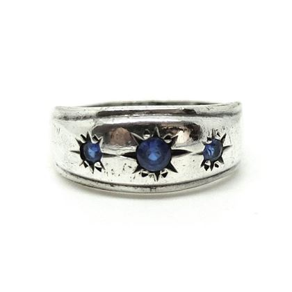 vintage-1960s-blue-glass-silver-gypsy-ring