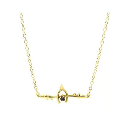 Antique Victorian Amethyst Wishbone 9ct Rose Gold Necklace
