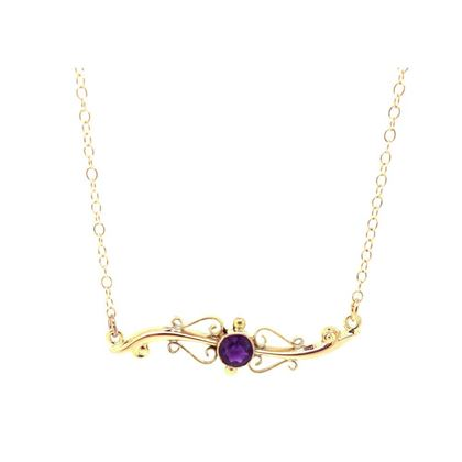 antique-victorian-9ct-rose-gold-amethyst-necklace