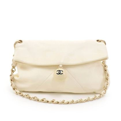 00dee3920101 ... chanel-white-lambskin-leather-ball-charm-fold-over-