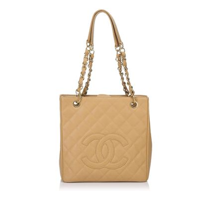 tan-chanel-quilted-caviar-leather-petite-shopping-tote