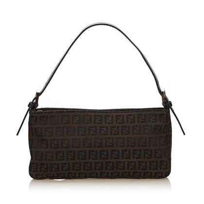 dark-brown-fendi-zucchino-canvas-shoulder-bag