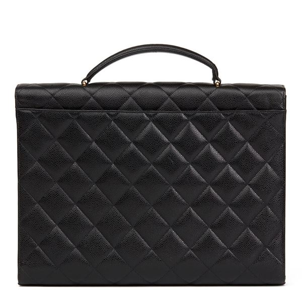 black-quilted-caviar-leather-vintage-jumbo-xl-classic-briefcase
