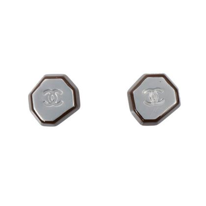 chanel-design-shape-cc-mark-pierced-earrings-silverbrown