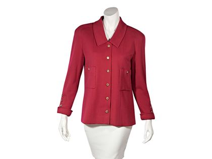hot-pink-vintage-chanel-button-front-jacket