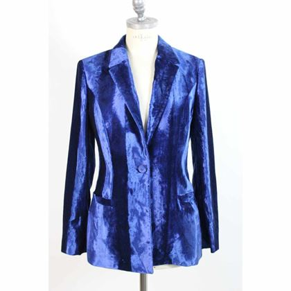 gianni-versace-jacket-tuxedo-velvet-cotton-vintage-blue