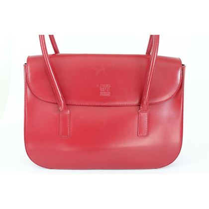 gianfranco-ferre-shoulder-bag-leather-vintage-red