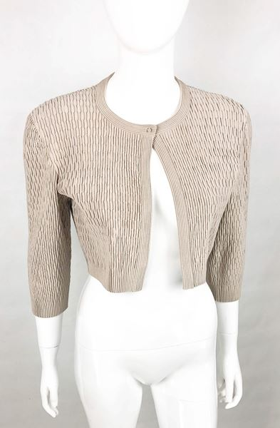 azzedine-alaia-taupe-stretch-cropped-jacket-2000s