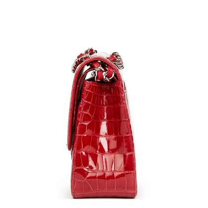 red-shiny-mississippiensis-alligator-leather-jumbo-classic-double-flap-bag