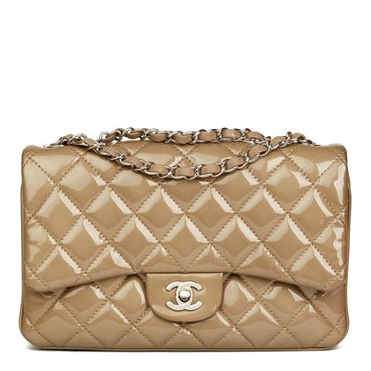 taupe-quilted-patent-lambskin-leather-accordion-single-flap-bag