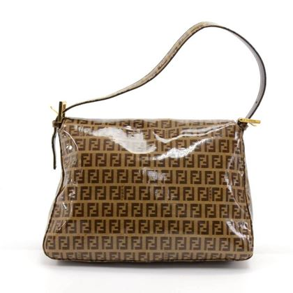 fendi-forever-mama-brown-zucchino-vinyl-coated-canvas-flap-shoulder-bag