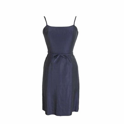 alberto-biani-blue-vintage-linen-party-dress