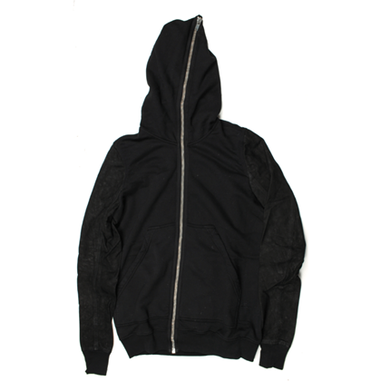 rick-owens-small-black-cotton-leather-dark-shadow-sweatshirt-jacket-with-leather-sleeves