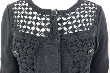 chanel-black-cotton-pattern-knitted-34-sleeves-length-cardigan