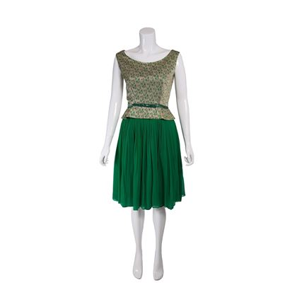 1960s-green-and-gold-lurex-vintage-cocktail-dress