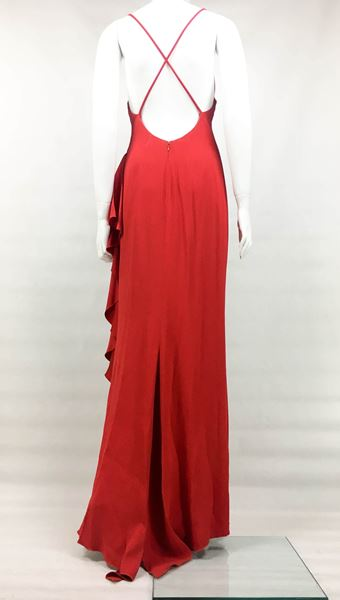 valentino-flamenco-inspired-red-silk-evening-gown-1980s
