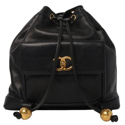 chanel-caviar-skin-turn-lock-backpack-with-pouch-black