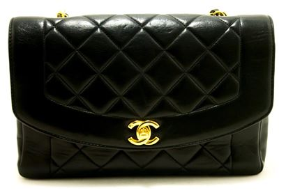 chanel-diana-chain-flap-shoulder-crossbody-bag-black-quilted-lamb-4