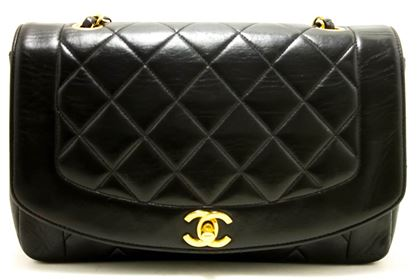 chanel-diana-chain-flap-shoulder-crossbody-bag-black-quilted-lamb-5