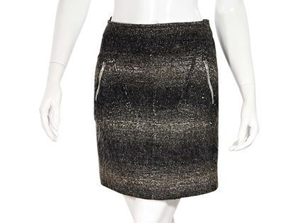 black-brown-chanel-wool-mini-skirt