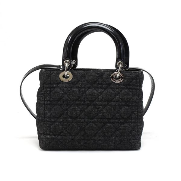 christian-dior-lady-dior-medium-black-quilted-cannage-denim-handbag-strap