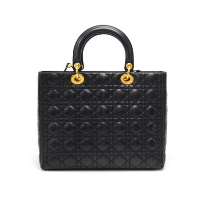 christian-dior-lady-dior-large-black-quilted-cannage-leather-handbag-strap