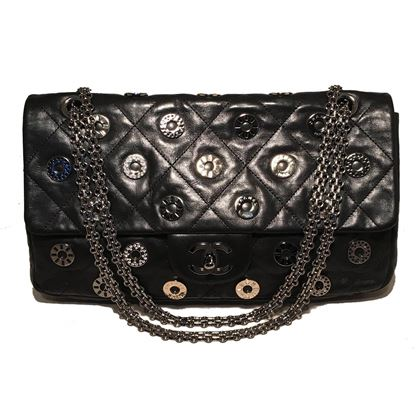 chanel-black-leather-classic-flap-with-crystal-embellished-grommets