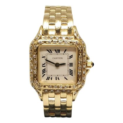 Picture of Cartier Santos Gold & Diamond set Vintage Ladies Watch