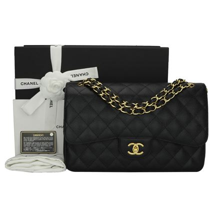 chanel-double-flap-jumbo-black-caviar-gold-hardware-2012-2