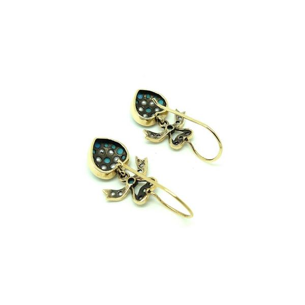 modern-victorian-style-turquoise-9ct-gold-earrings