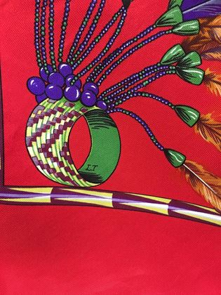 hermes-vintage-brazil-silk-scarf-in-red
