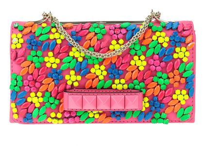 valentino-embellished-flower-vava-voom-crossbody-purse-neon-hot-pink-leather-clutch-bag