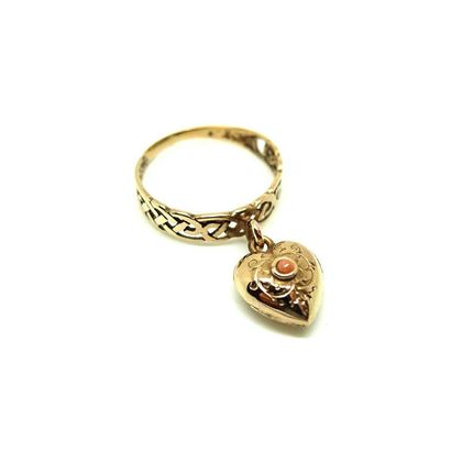 antique-victorian-9ct-rose-gold-coral-heart-ring