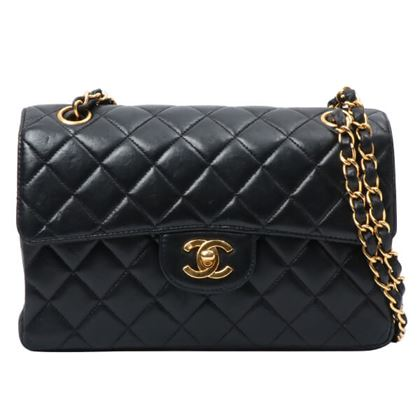 chanel-double-face-classic-flap-chain-handbag-black