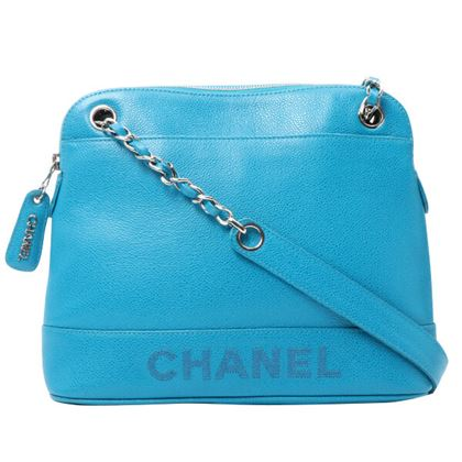 chanel-caviar-skin-logo-embroidered-chain-tote-bag-turquoise-blue
