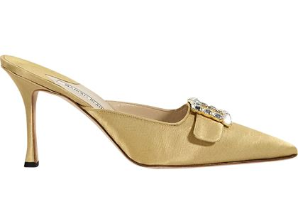 yellow-manolo-blahnik-satin-mules