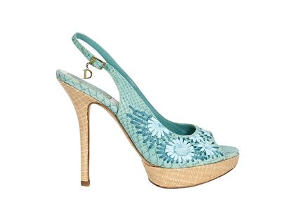 teal-christian-dior-embossed-slingback-pumps-2