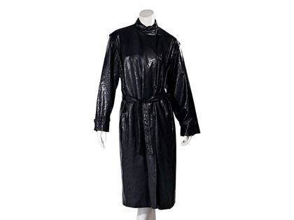black-vintage-pierre-balmain-raincoat