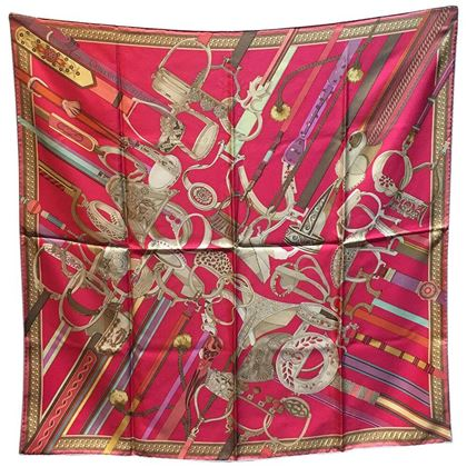 rare-hermes-concours-detriers-silk-scarf-in-pink