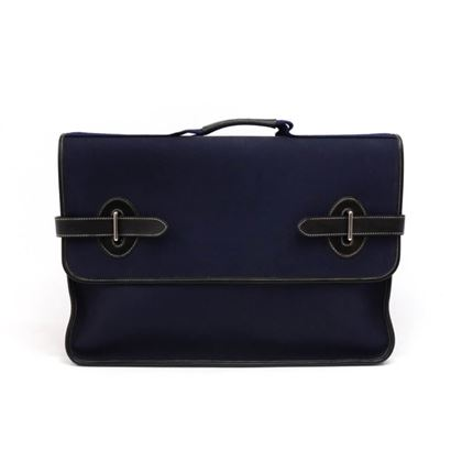 vintage-hermes-buenaventura-large-navy-canvas-black-leather-briefcase-bag